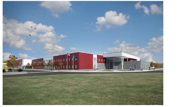 A rendering of EVSC's new McCutchanville Elementary School to be built in the North High School attendance district. Set to open for the 2018-19 school year.