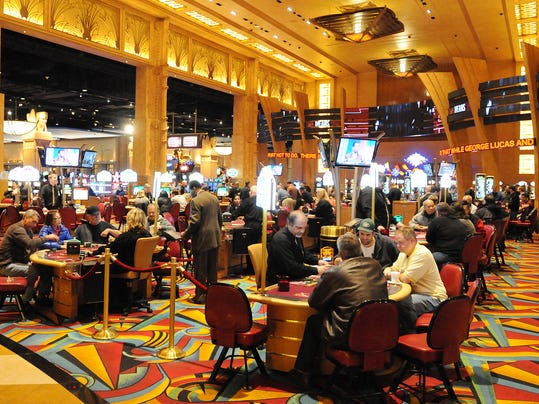 A view of the table games at Hollywood Casino. FILE