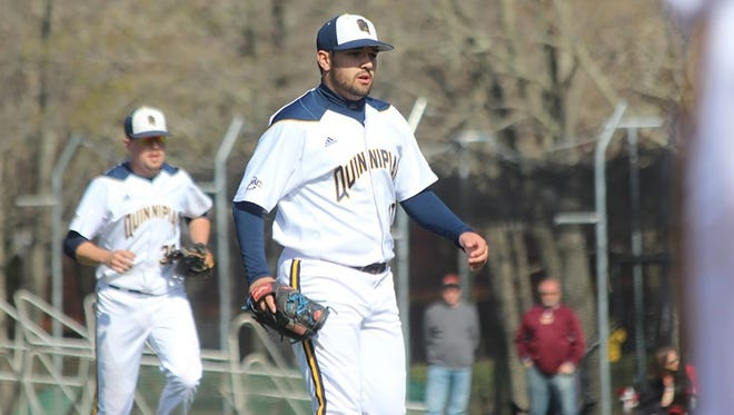 Matt Osieja of Wyckoff recently set the all-time Quinnipiac record for appearances with his 64th turn on the mound.