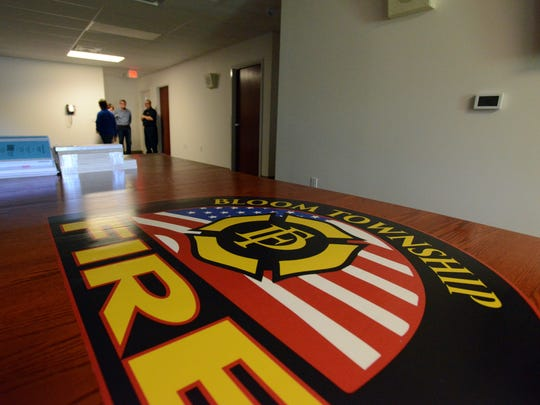 Bloom Township Fire Chief Terry Gill gives tour of the department's new station Tuesday in Bloom Township.