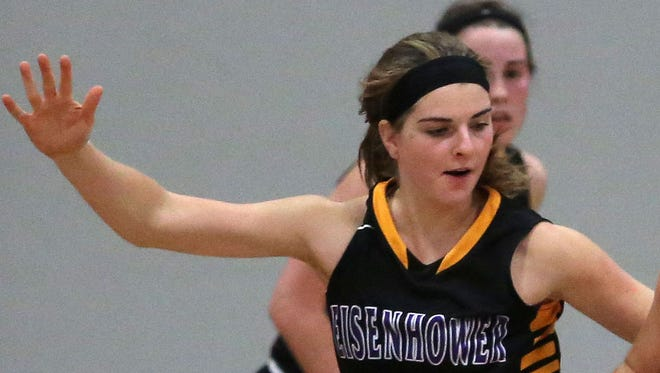 Eisenhower's Julia Hintz, shown during a December game, led all scorers with 21 points Friday night.