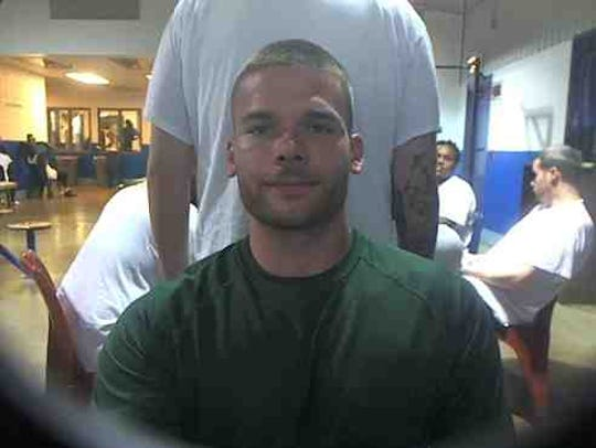 Joshua Estes in a photo taken at North Central Correctional