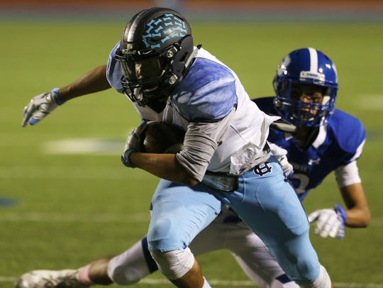 Chapin receiver Christian McKeever heads upfield after