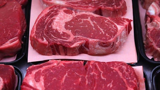 Ribeye steaks.