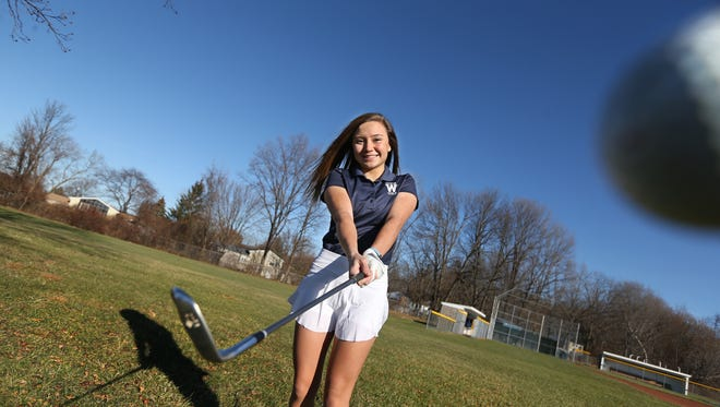 Mikah McDonnell, from Webster Thomas High, is the girls golfer of the year for All Greater Rochester for fall sports, seen at the school in Webster Tuesday, Nov. 28, 2017.