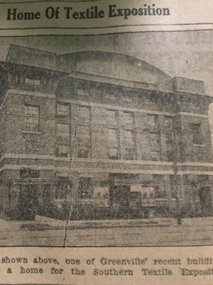 Textile Hall, pictured here in a special 1923 edition of the News, was home of the Southern Textile Exposition.