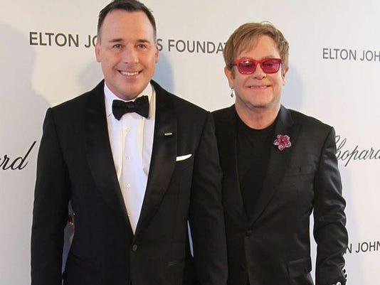 David Furnish and Elton John