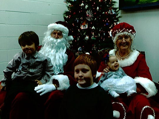 A Breakfast with Santa event served as a fundraiser for the Friends of the Lumberton Library.