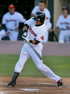 Red Wings Jorge Polanco, pictured earlier this season, had two hits in the Triple-A All-Star Game.