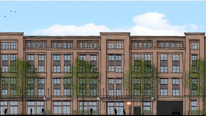 A view of the Germantown Urban Storage building planned for 1232 Third Ave. N.