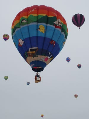 Balloons during the 2004 festival.