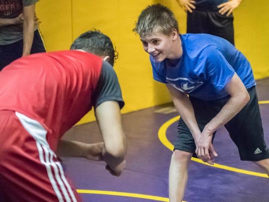 Bronson freshman Ben Modert during a recent practice.