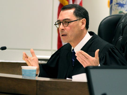 Judge David Bauman preside over the sentencing for