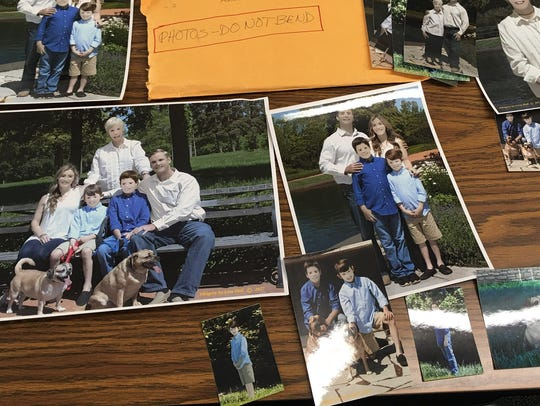 Printed images Pam Zaring received in the mall yesterday from the photographer who hilariously edited her family photos.