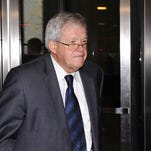 In this Oct. 28, 2015, file photo, former U.S. House speaker Dennis Hastert leaves the federal courthouse in Chicago.