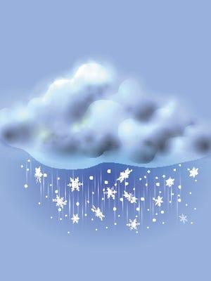 Snowstorm snow cloud