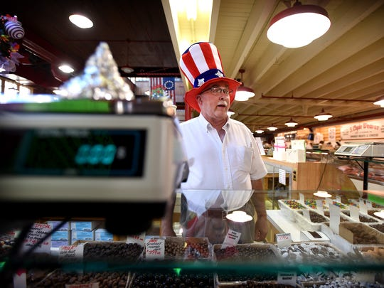 Wayne Carey of Candy-Rama, a fixture in the Lebanon Farmers Market, talks about the future of the facility. The market recently changed ownership. Local landlord Tom Morrissey has met with many of the vendors to discuss future goals of the market as well as increasing foot traffic to the Lebanon destination.
