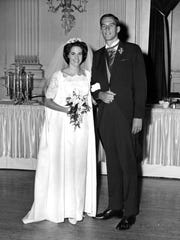 Charlotte and John Fedders on their wedding day in 1966. Charlotte says the abuse started about four months later.
