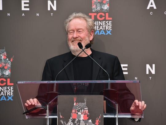 Ridley Scott attends his hand and footprint ceremony