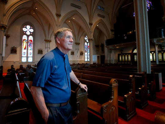 The Rev. Rick Farrell has served 29 of 32 years as a priest in Elmira. He's pastor of Blessed Sacrament Parish. Farrell attributes lower congregation numbers as a result of a declining population and effects of the Catholic sex abuse scandal.