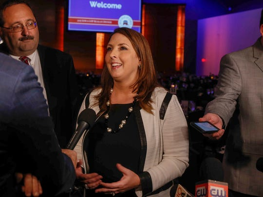 Ronna Romney McDaniel, the Chairwoman of the RNC, speaks