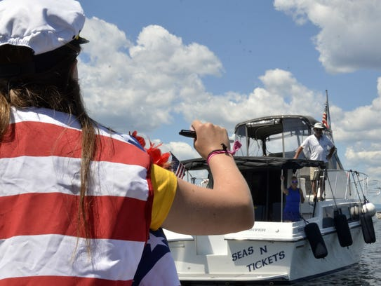 """Dock Master Sarah Caffry directs the occupants of """"Seas"""
