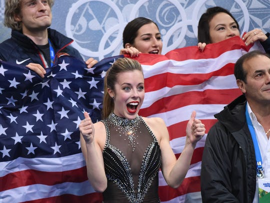 Ashley Wagner excited.