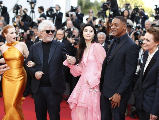 essica Chastain, Pedro Almodovar, Fan Bingbing, Will Smith and Maren Ade