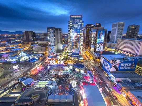 Downtown Phoenix hosted Super Bowl Central, which included the NFL Experience.