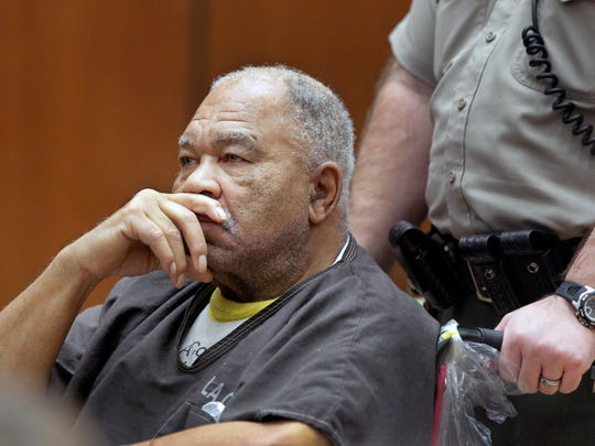 Samuel Little appears at Superior Court in Los Angeles in 2013. On Tuesday, Sept. 2 he was found guilty of three murders.
