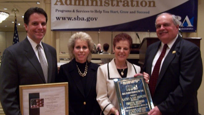 The U.S. Small Business Administration's annual search for local Small Business Week award nominations in under way, including the next New Jersey Small Business Person of the Year. Pictured are the 2008 winners from Central Jersey, Kathy Kady-Hopkins, second from left, president of Franklin-based ASL Interpreter Referral Service, and her mom, Christine Sherwood, vice president of the company. They are pictured with former SBA Regional Administrator Michael Pappas and former New Jersey District Director James A. Kocsi.   The web portal http://awards.sba.gov provides all the guidelines and makes it easy to submit and track submissions of nominees.    National Small Business Week has recognized the outstanding achievements of America's small businesses for their contributions to their local communities and to the nation's economy since 1963, the federal agency said in a news release. The last Central Jersey winner was in 2008 when the mother-daughter team of Kathy Kady-Hopkins and Christine Sherwood from Franklin-based ASL Interpreter Referral Service took home the prize.Kathy Kady-Hopkins  president of ASL Interpreter Referral Service, Inc. of Somerset (2nd from left) and her mom Christine Sherwood, vice president of the company are seen here receiving their 2008 New Jersey Small Business Persons of the Year award from former SBA Regional Administrator Michael Pappas and former New Jersey District Director James A. Kocsi. They started out of their home in New Brunswick in 1995 or 96 and  then eventually moved to Somerset.