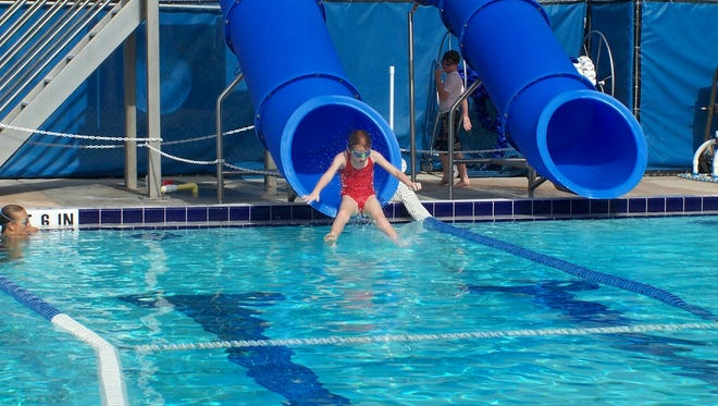 The Pine Island Community Pool is a 25-yard outdoor pool with six lanes, a diving area with a one meter springboard and a two flume water slide.