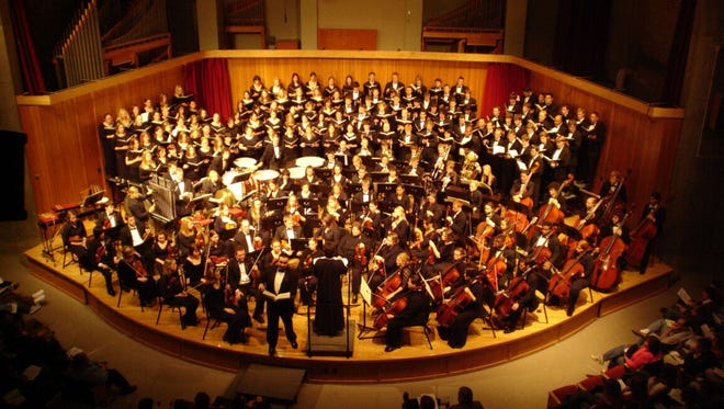 The Symphony Orchestra, Concert Choir and Choral Union will combine to perform two pieces by Ludwig van Beethoven at the University of Wisconsin-Stevens Point on Nov. 30 and Dec. 1, 2017.