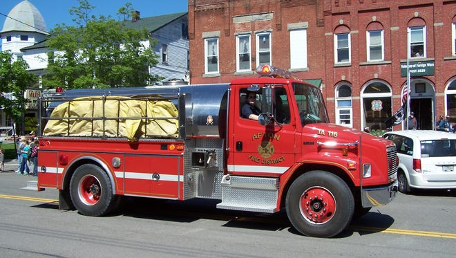 Afton Fire Department's water tanker.