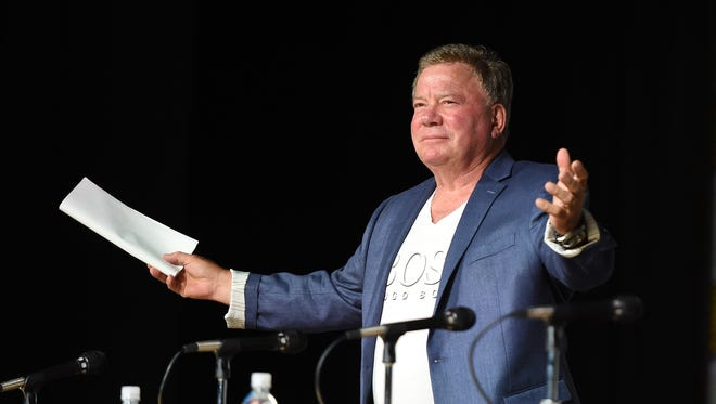 William Shatner greets his fans at Comic-Con Thursday.