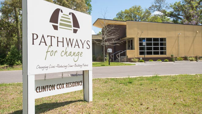 Pathways for Change's Clinton Cox Residence in Pensacola is seen March 29, 2017.