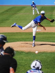 Fillmore High's Agustin Osegueda fires a pitch during
