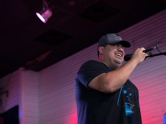 Santiago Pantoja sings with Hard At Play at Brewster