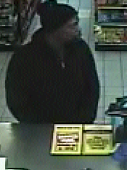 Surveillance photo from Texaco Shell station robbery.