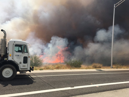 I-17 brush fire