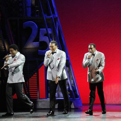 """A scene from """"Motown: The Musical"""" at Fisher Theatre."""