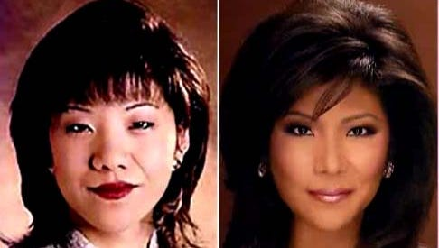 Julie Chen shows her before and after pictures on 'The Talk.'
