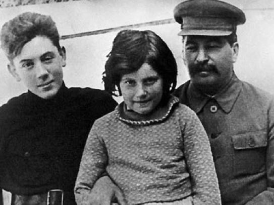 Svetlana, with her father and brother.