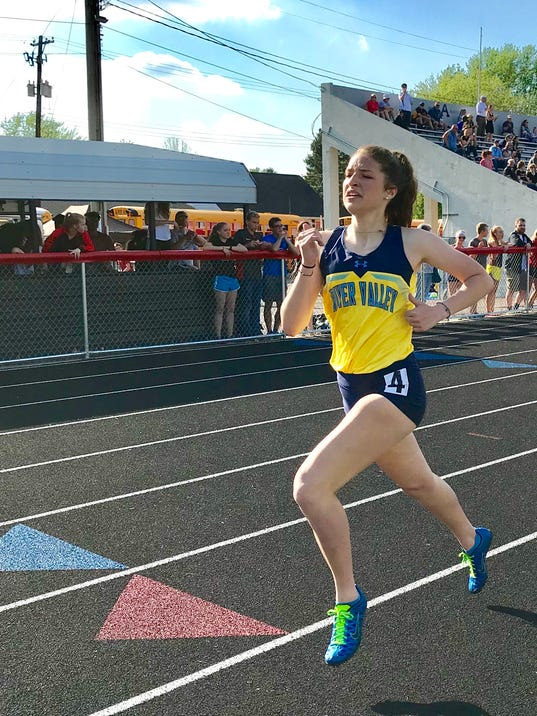 River valley girls track Bailey Ruth
