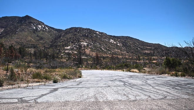 Two years after the Mountain Fire, slow recovery of the San Jacinto Mountains is seen near Idyllwild on Tuesday.