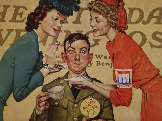 """The """"Norman Rockwell: A Portrait of America"""" exhibit features a collection of 44 Saturday Evening Post covers."""