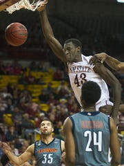 New Mexico State forward Pascal Siakam was selected by the Toronto Raptors in the first round of the NBA Draft Thursday night. Siakam became the first Aggie player since Randy Brown in 1991 to be selected and the first NMSU player to be drafted in the first round since Sam Lacey and Jimmy Collins in 1970.