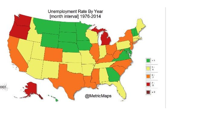 A new map traces unemployment over time.