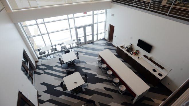 The new Journey Group office in southwest Sioux Falls is filled with natural light and several gathering spaces and collaborative work areas.