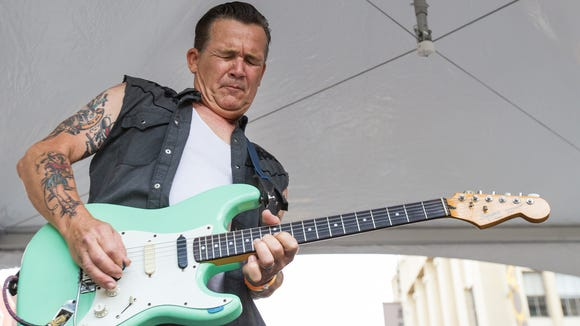 Michael Davis and The Bullets perform at the Rockabilly Rumble in 2014 outside World Cafe Live at the Queen.